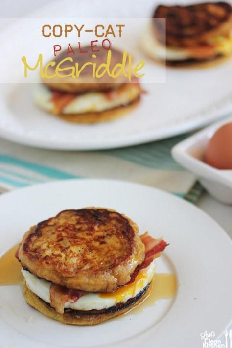 Copy-Cat Paleo McGriddle Breakfast Sandwiches