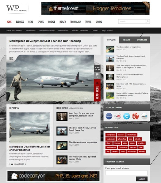 WP-Next-Magazine-visual-layout-builder
