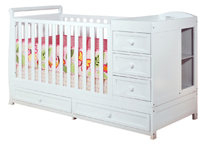Crib with Changing Table and Storage