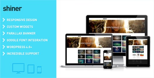 Shiner wordpress video theme