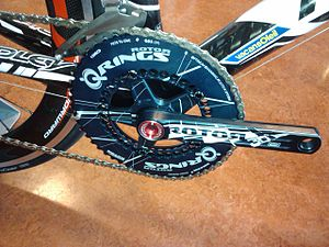 Rotor crankset with Q-rings