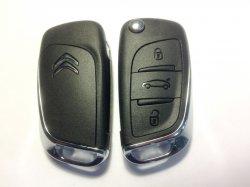 Citroen ключ выкидной 3 кнопки (433 MHz)