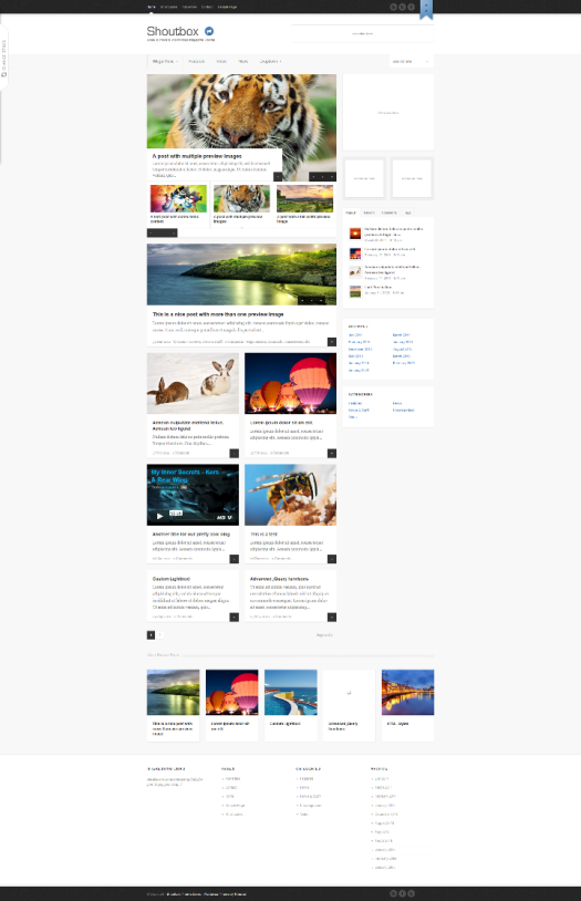 shoutbox wordpress magazine theme