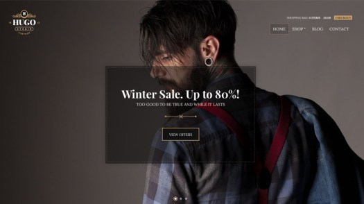 hugo wordpress woocommerce theme
