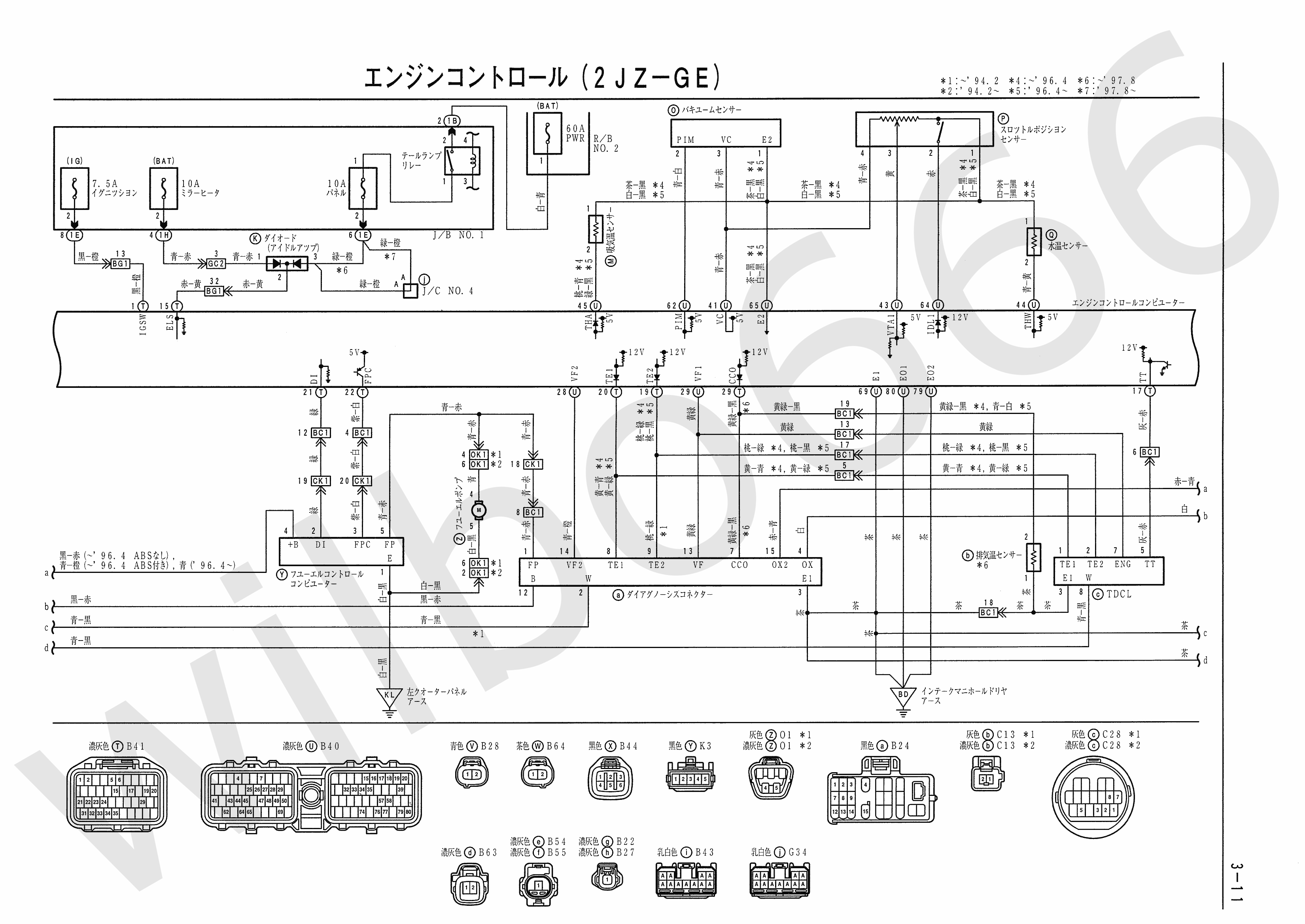 JZA80 Electrical Wiring Diagram 6742505 3 11?ssl=1 toyota ipsum wiring diagram toyota wiring diagrams instruction jzx100 wiring diagram at creativeand.co