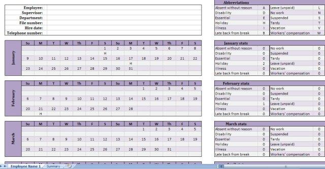free employee attendance tracker get attendance tracking sheet
