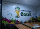 Pemasangan Sticker Piala Dunia Brazil Di Antv
