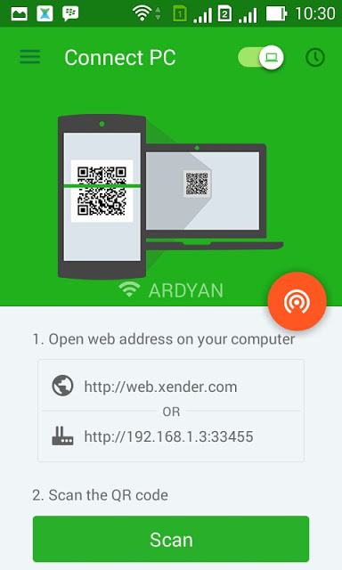 file-transfer-android-to-pc-using-xender