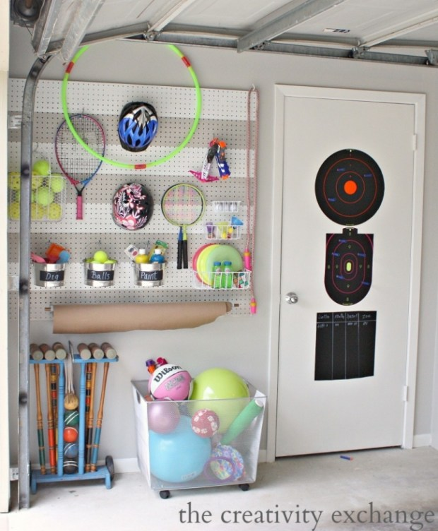 DIY-Garage-Pegboard-Outdoor-Toy-Storage-Wall-The-Creativity-Exchange