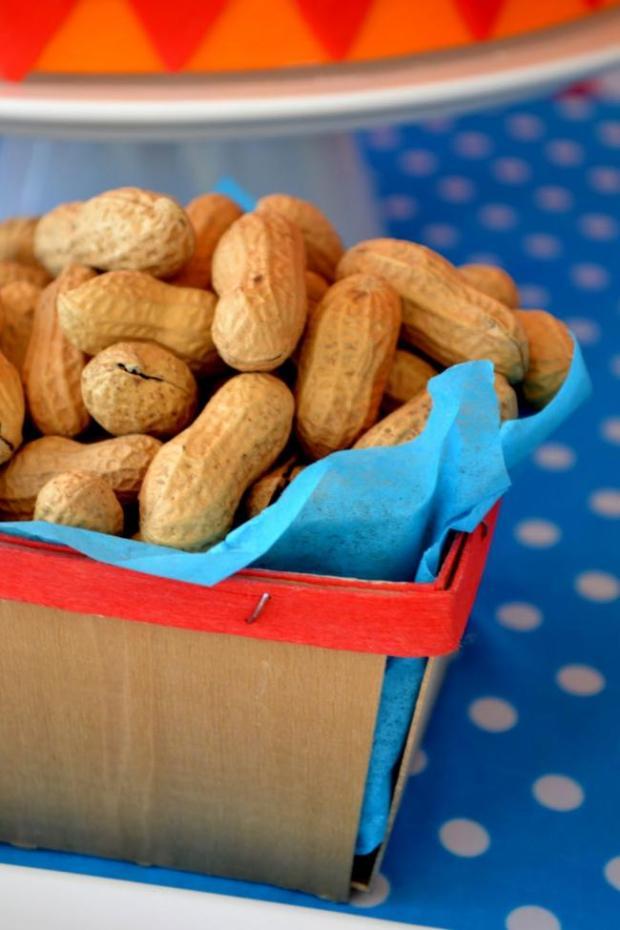 Boys Circus Themed Birthday Party Food Peanut Ideas