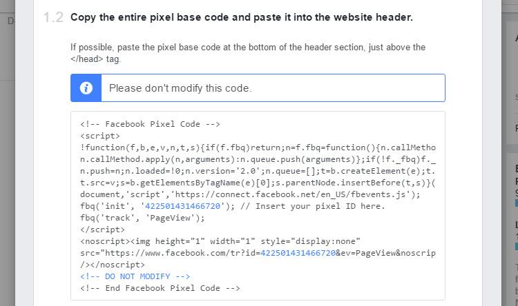 Facebook pixel base code