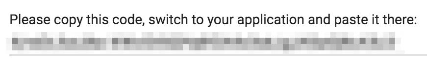 The Google Access Code.