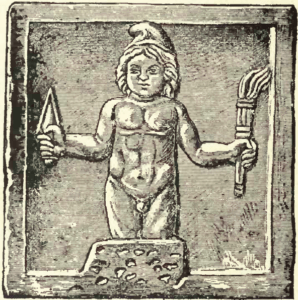 Mithras born from the rock