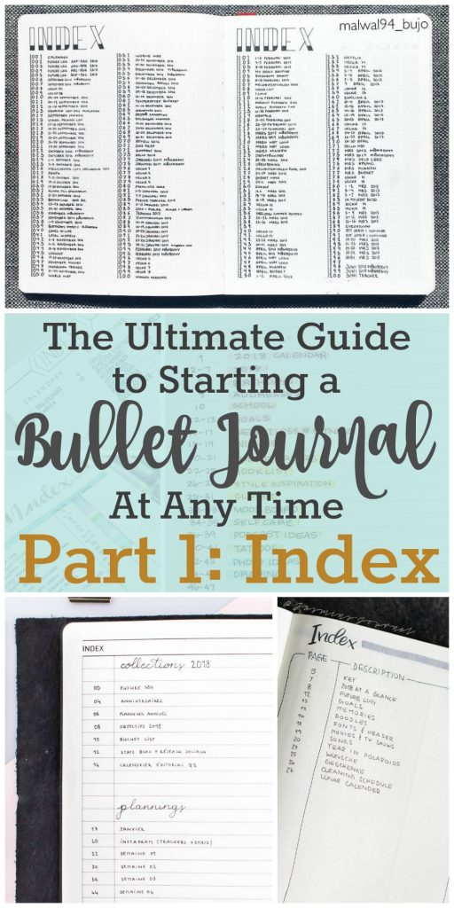The Ultimate Guide to Starting a Bullet Journal Index | Bullet Journal Index | Zen of Planning