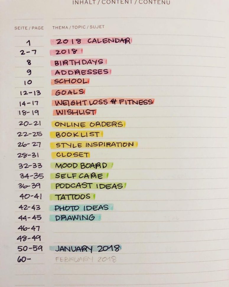 Keep Track of all Your Monthlies, Dailies, and Collections in Your Bullet Journal Index