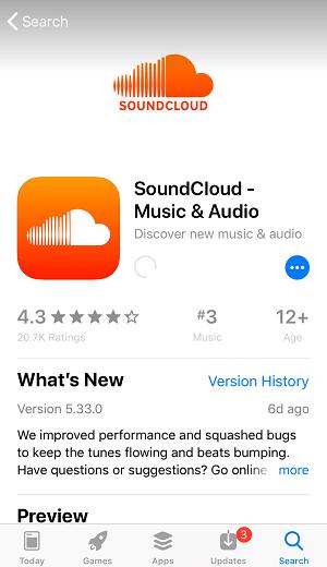 Unduh SoundCloud iPhone