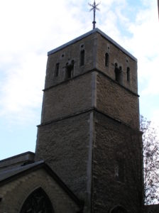 St Bene't's Anglo-Saxon Church, Cambridge. The earliest church in Hildericstow would have been wooden (photo by author)