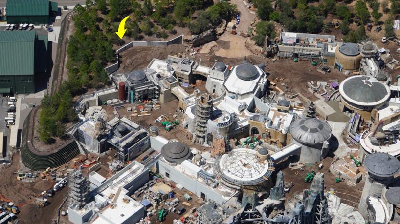 aerial photos show the star wars theme park at disney world