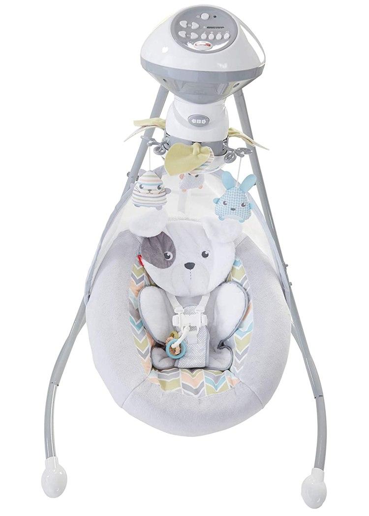 best baby swing bouncer - Fisher-Price Sweet Snugapuppy Dreams Cradle 'n Swing