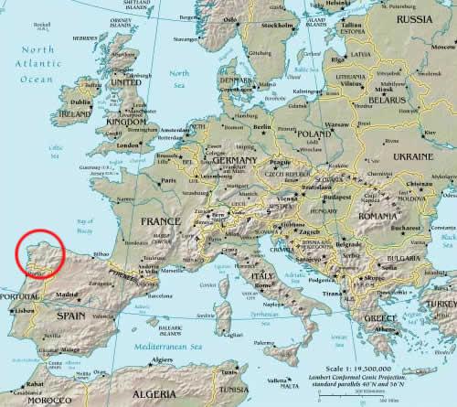 Map Regions Spain Spanish