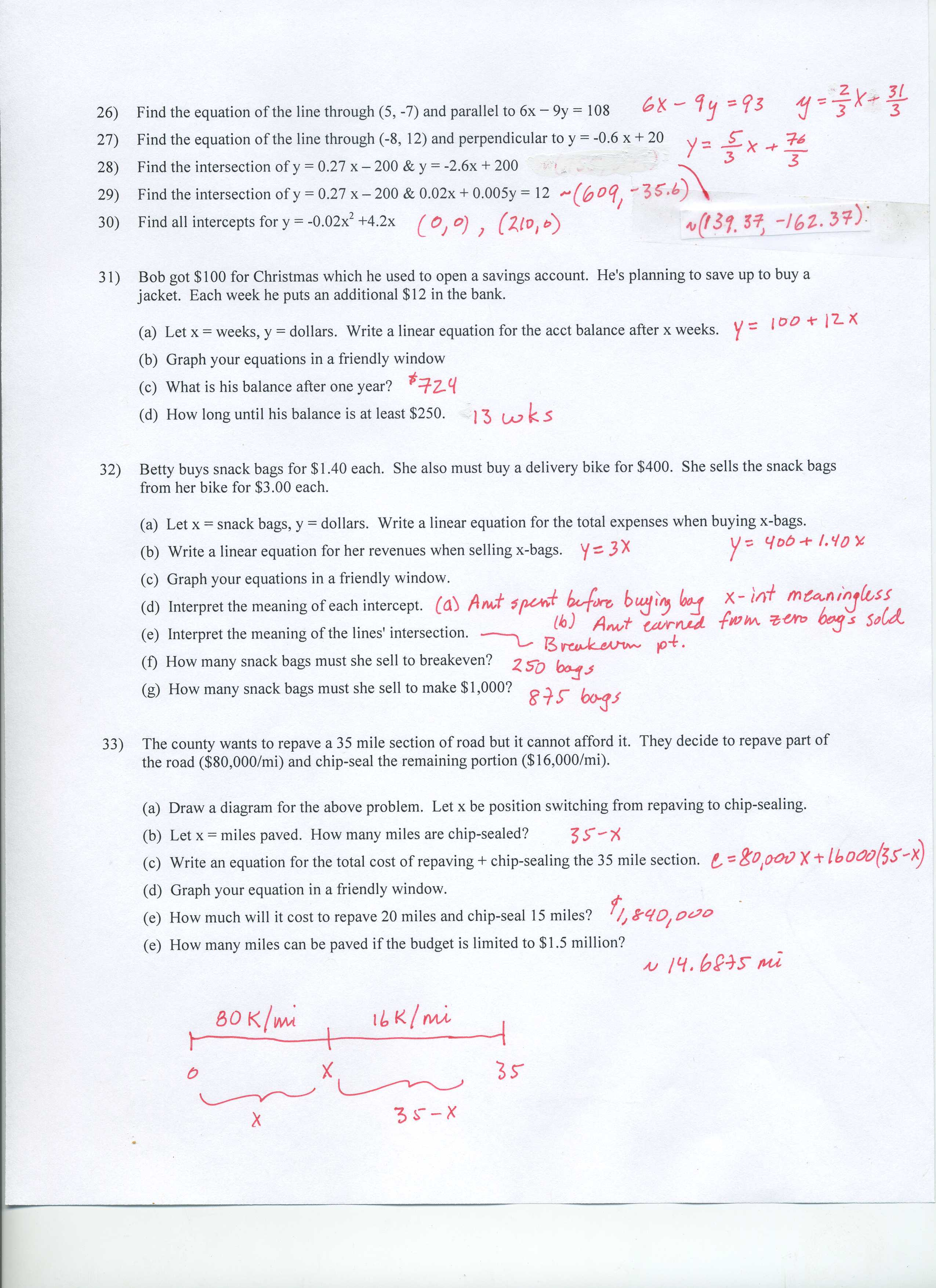 Linear Equation Study Guide
