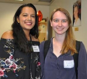 CECS major Nora Koirala and MAE major Hannah Kotoff