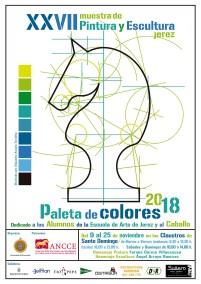 Cartel Muestra de Pintura y Escultura Paleta de Colores 2018