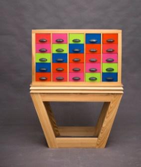 mueble cajones con de colores