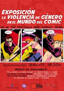el alumnado del ciclo de gráfica publicitaria y de easd de diseño gráfico asiste a la exposición la violencia de género en el mundo del cómic