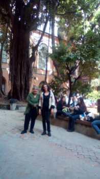 Marisa Nogales y Mariateresa Girosi en la Academia de bellas Artes de Nápoles
