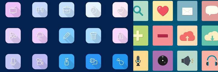 WebとUIデザインの為のフリーアイコン#90