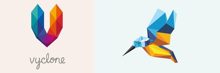 20の素晴らしいポリゴン風ロゴデザイン