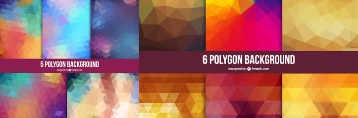 150以上のHD幾何学的なポリゴン背景素材