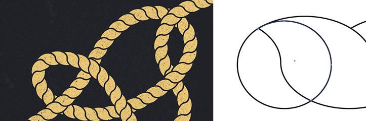 Illustratorブラシでロープ&結び目を作る方法