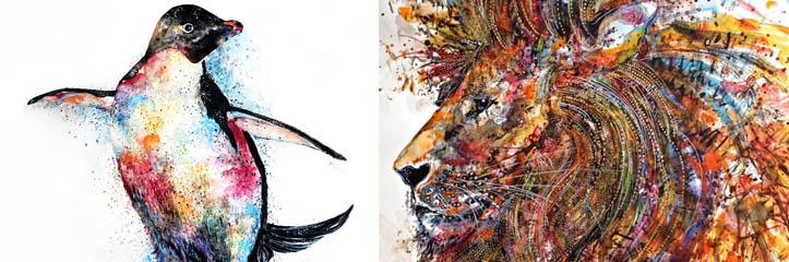 カラフルな、そして表現力に豊んだアートワーク by Emily Tan