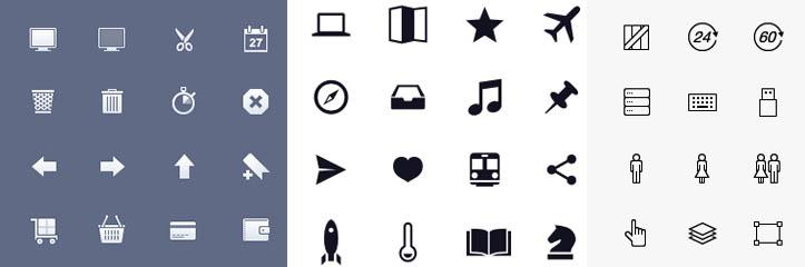 アプリケーション開発者のための2,000以上の無料モバイルアイコン(iOSとAndroid用)