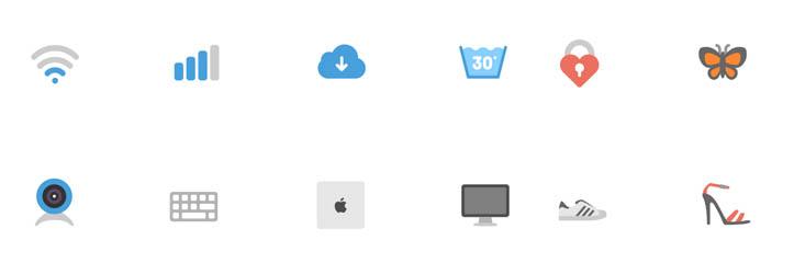 フリー素材:フラットなアイコンパック(AI、SVG、EPS、PSD、PNG)