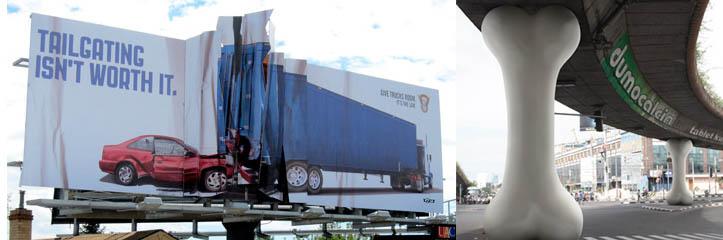 10の壮観な屋外広告とビルボード