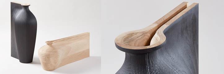 zaha hadidとgareth nealがによって作られた流動的な彫刻の容器