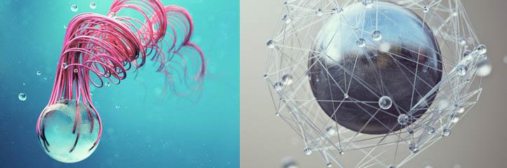 驚くべき実験的なひりひりする3Dアートワーク by Joey Camacho