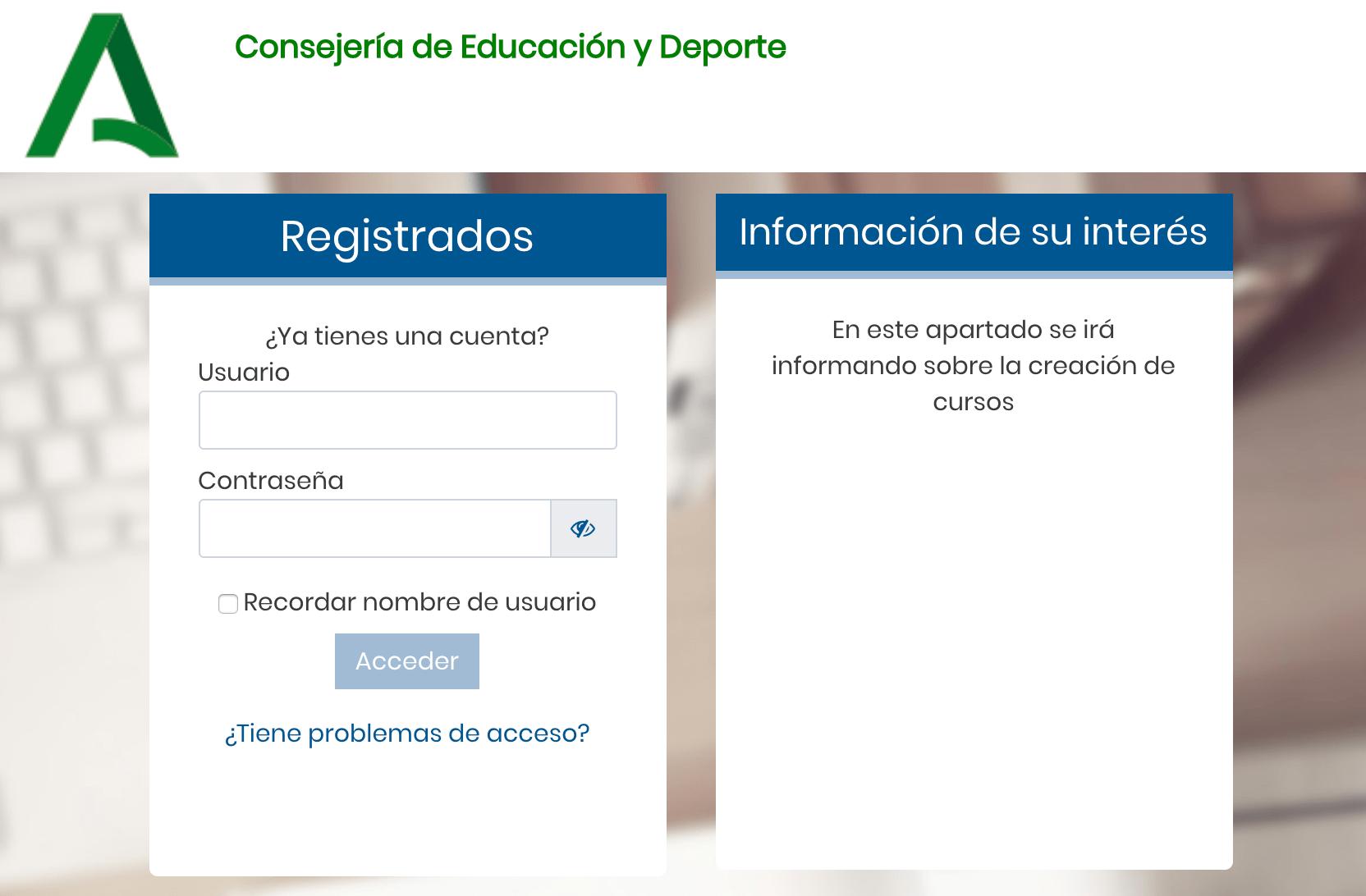 Credenciales Del Alumnado Para Acceso A Pasen Y Al Aula Virtual De La Junta De Andalucia Ies Ntra Sra De Los Remedios