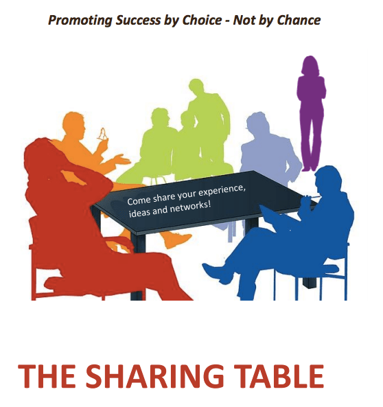 The Sharing Table Share Your Ideas Experiences And