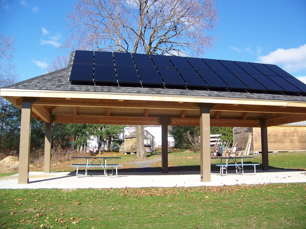 Solar Pavilion at Broad Meadow Brook