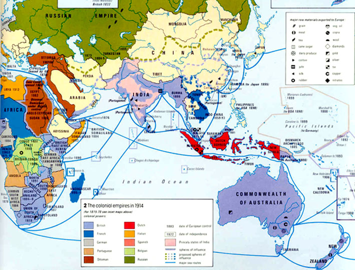Map Of Asia 1914.Independence In Colonial Asia If I Had A Minute To Spare