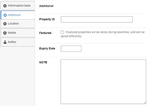 Dati immobile Software gestionale personalizzato per siti web immobiliari