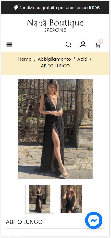 creazione-sito-web-ecommerce-online-abbigliamento-nana-boutique-sperone-responsive-smartphone-prodotto