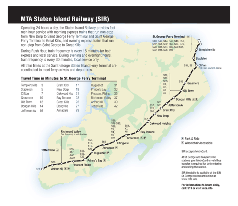 mta new york city transit staten island railway map