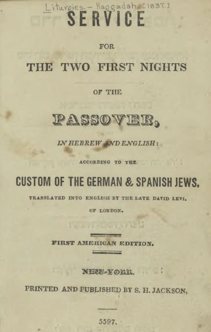 Image result for haggadah 1837