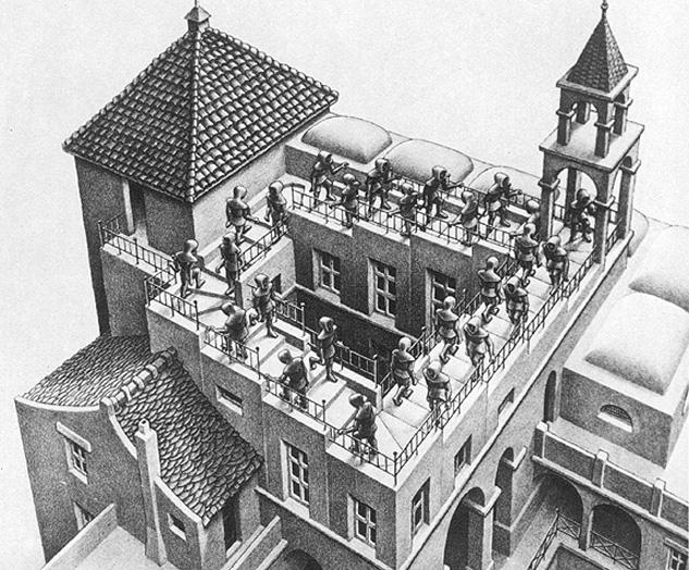 M.C. Escher's Circular Staircase