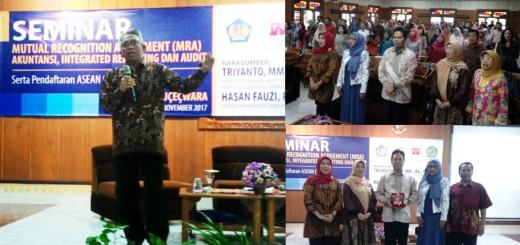 "seminar ""Mutual Recognition Agreement (MRA), Akuntansi, Integrated dan Audit"""